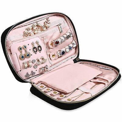 Portable Travel Jewelry Organizer Jewelry Case Women Quilted Jewelry Storage Box