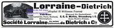 Lorraine-Dietrich Automobile Reklame 1907 Mathis Strassburg Werbung Luneville
