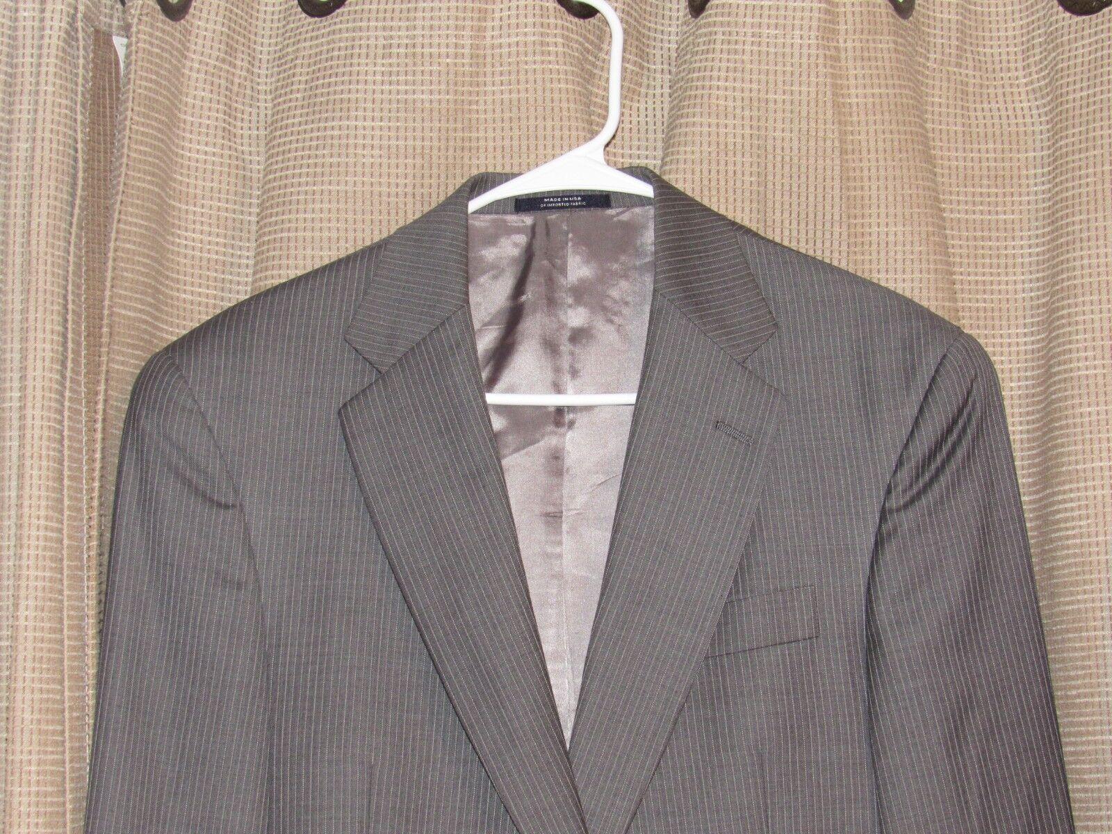 HART SCHAFFNER MARX 38 reg grau pinstripe suit SEE OTHER 31 x 29 pleat pants