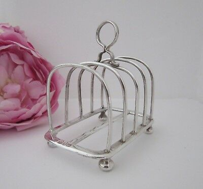 Sterling Solid Silver Victorian Toast Rack - Five Bar Four Slices