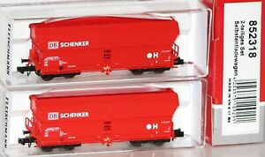 Fleischmann-N-852318-Selbstentladewagen-Set-034-Falns183-034-der-DB-AG-NEU-OVP