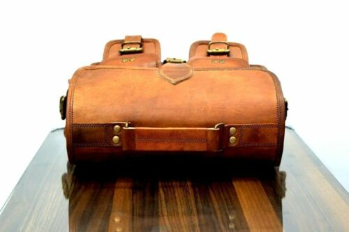 Men/'s Tan Cowhide Leather Shoulder Bag Laptop Cross body Messenger Satchel Bag