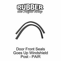 1955 1956 1957 Ford Thunderbird Door Seal - Goes Up Windshield Post - Pair