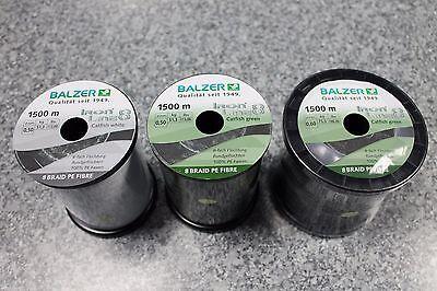 1500m Großspule geflochtene Schnur Balzer IRON LINE 8 BRAID grün 0,14mm