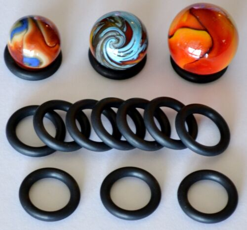 SHOOTER MARBLE DISPLAYS LARGE STANDS-10 PACK-SHOOTER//TOE-BREAKER-no marbles