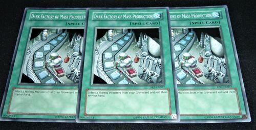 Yugioh Dark Factory of Mass Production DR3-EN037 NM//MINT Common 3X Unlimited