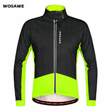 Windproof Cycling Jacket Fleece Thermal Water Repellent Long Sleeve Jersey Men's