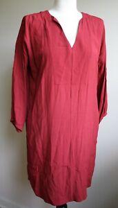 NEW RRP £45.95 Ex Seasalt Valentine Red Floral Tunic Dress