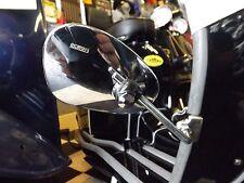 Left Side 105mm Round Legshield Clamp On Mirror Chrome Vespa Lambretta LML