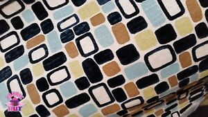 Image Is Loading Home Decor Heavy Upholstery Multi Color Mid Century