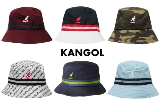 Kangol  Headwear  Mens  Stripe LaHinch  Bucket  Hat  Color  Grey