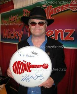 MICKY-DOLENZ-DIRECT-2U-14-034-DRUMHEAD-SIGNED-2U-W-YOUR-FAVE-MONKEES-SONG-TITLE