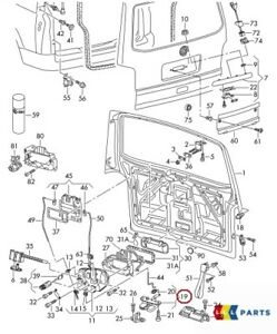 7h0823359b Capot 7h0823359a 2 x ressorts VW transporter t5 Bj 03-09
