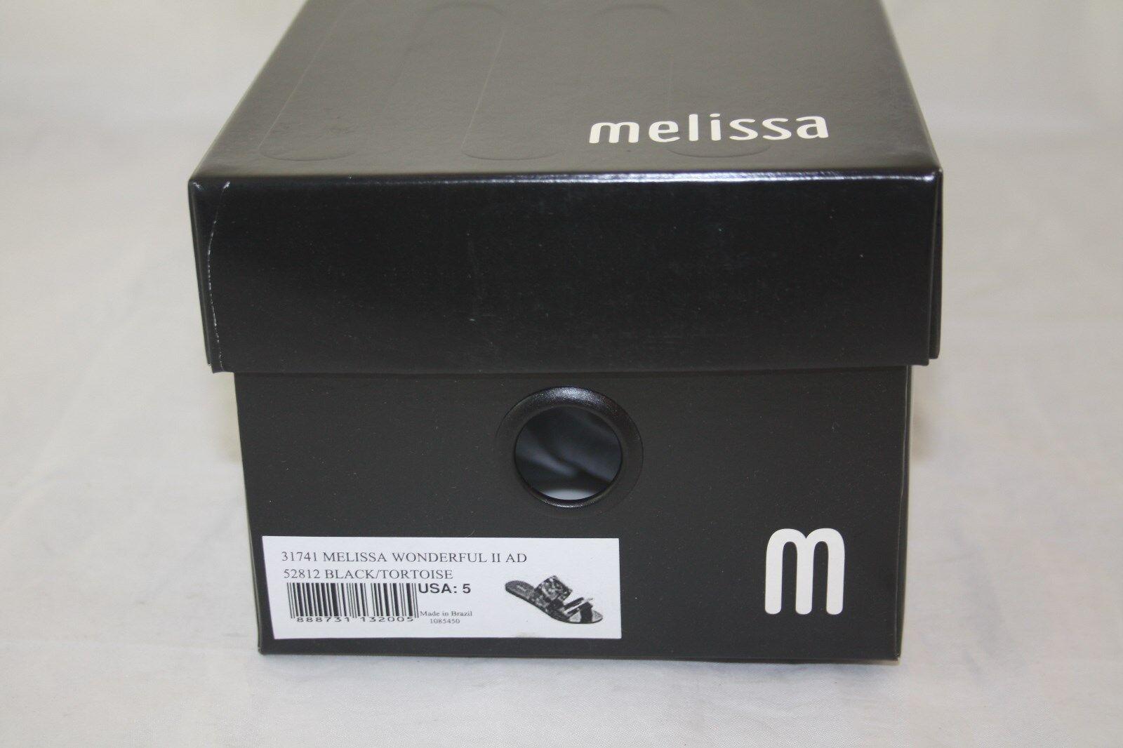 Nuevo WMNS sueco 31741 Melissa maravilloso II II II AD 52812 Negro Tortuga diapositiva be6192