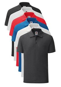 Fruit-of-the-Loom-Soft-Touch-Poly-Cotton-Tailored-Fit-Iconic-Polo-Shirt
