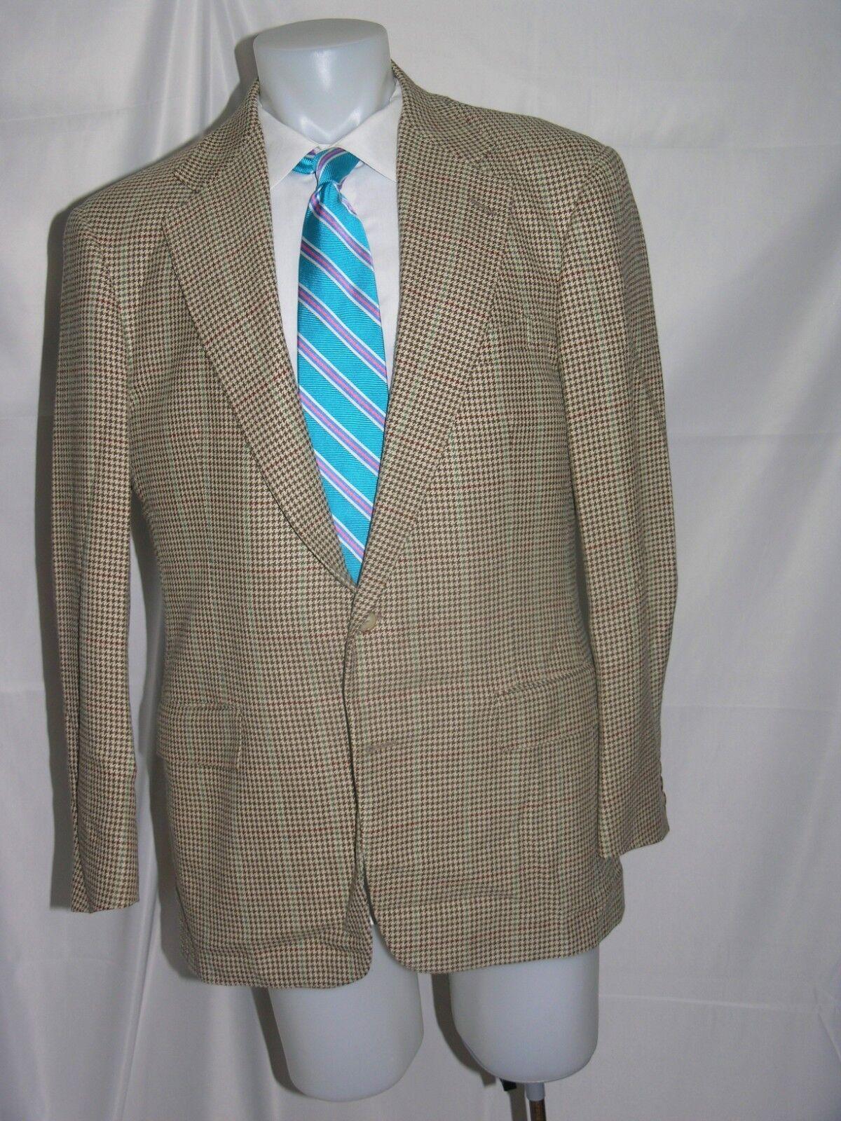 Polo Ralph Lauren bluee Label Vintage  Two Button 100% Silk Blazer 41 L