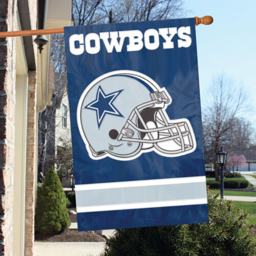 DALLAS COWBOYS House Banner Flag PREMIUM Outdoor DOUBLE SIDED Embroidered