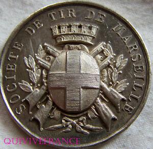 """MED4089 - MEDAILLE SOCIETE DE TIR DE MARSEILLE en argent - France - Commentaires du vendeur : """"voir descripton plus bas."""" - France"""
