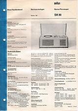 Service Manual-Anleitung für Braun SK 61