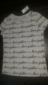 Girls-justice-short-sleeve-logo-tee-size-8-new