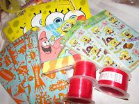 Sponge Bob Squarepants Nickelodeon Party Gift Loot Bag Tissue Napkin Sticker Lot