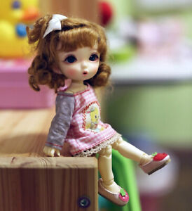 BJD SD 1//8 Doll Girl Resin Free Eyes -Without Any Makeup