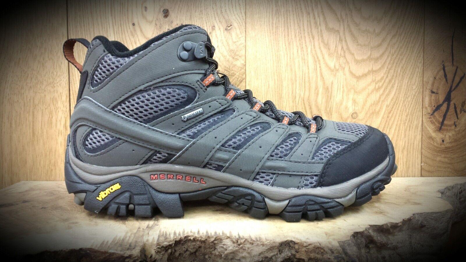 MERRELL    Moab 2 Mid GTX    Mens Gore-Tex Walking Hiking Boots    NEW