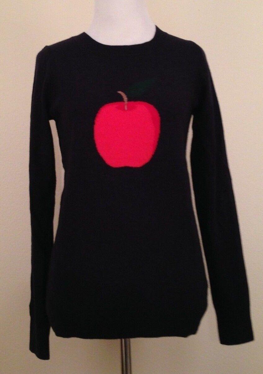 NWT J.Crew Intarsia Big Apple  Sweater XS B4430