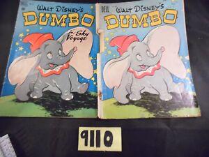 Lot-of-2-Dell-Disney-039-s-Dumbo-Comics-668-and-234