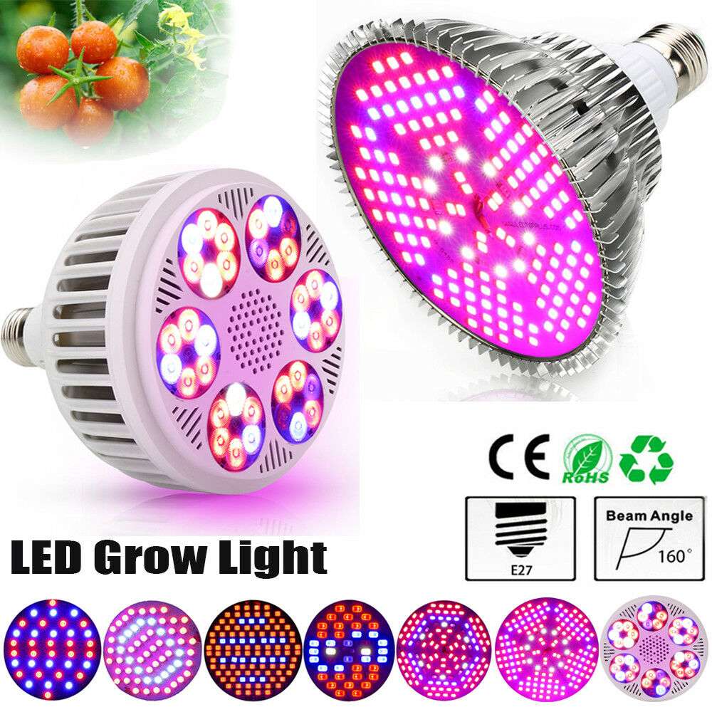 4Pcs LED Grow Light 30W 50W 80W 100W 120W Innen Blaume Pflanzenlampe Vollspektrum