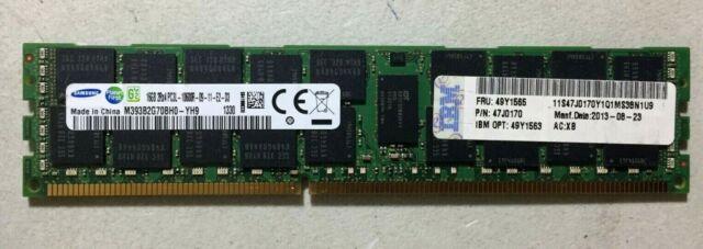 IBM// Lenovo 16GB 2Rx4 1.35v PC3L-10600R ECC DDR3-1333 RDIMM,FRU 49Y1565 49Y1563