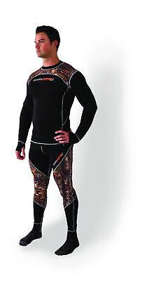 FXR 100/% Merino Vapour Mens Base Layer Pants Charcoal//Orange