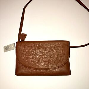 Fossil-Brown-Genuine-Leather-Crossbody