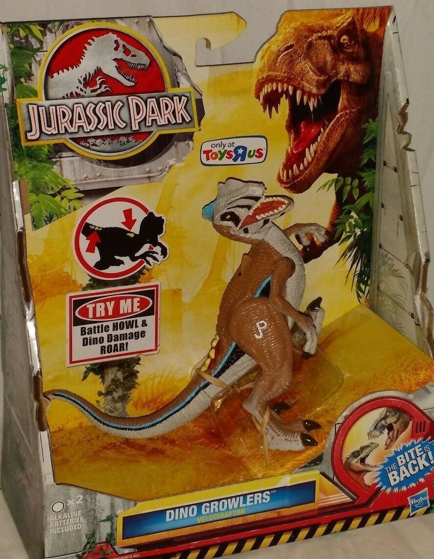 EXCLUSIVE VELOCIRAPTOR Raptor Dinosaur JURASSIC PARK DINO GROWLERS action figure