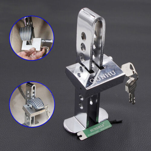 Car Chrome Anti-theft Device Stainless Steel Clutch Brake Security 8 Hole Lock