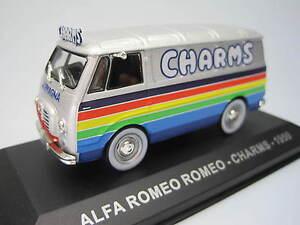 Veicoli-Pubblicitari-d-039-Epoca-Alfa-Romeo-Charms-1959-IXO-1-43-cochesaescala