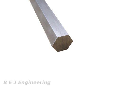 Bright Mild Steel Hexagon Bar 22mm A//F x 250mm EN1A-Pb Hexagonal