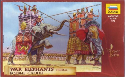 Figure Plastic Kit 1:72 Model ZVEZDA War Elephants I-III B.C