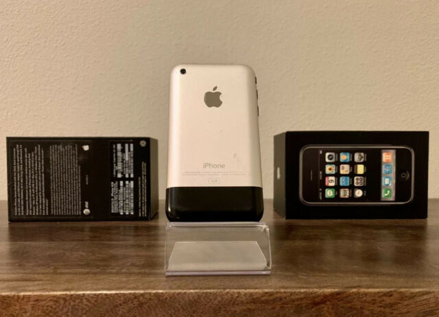 📱Apple iPhone 1st Generation 4GB - Silver - A1203 - Matching Box - Complete Set