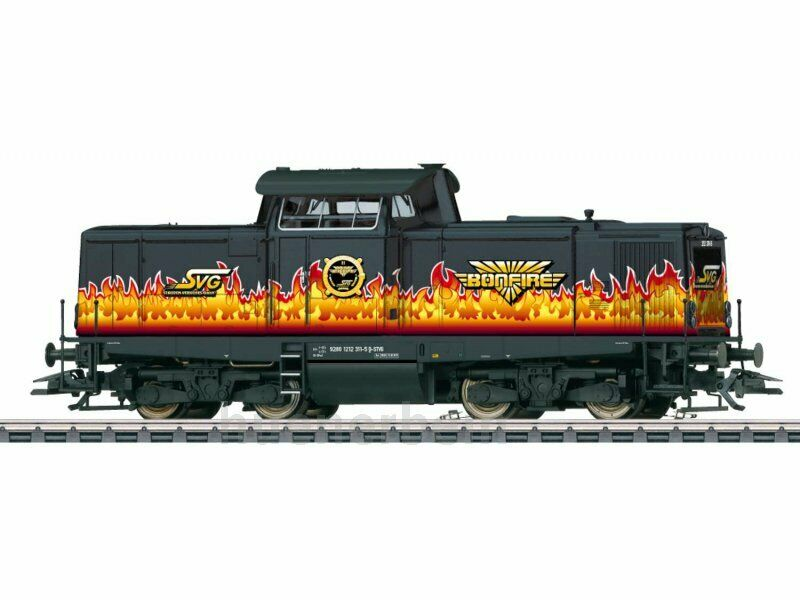Märklin 37000.001 SVG Diesellok BR212 Bonfire schwarz Fl Ep6 SOUND limit NEU+OVP