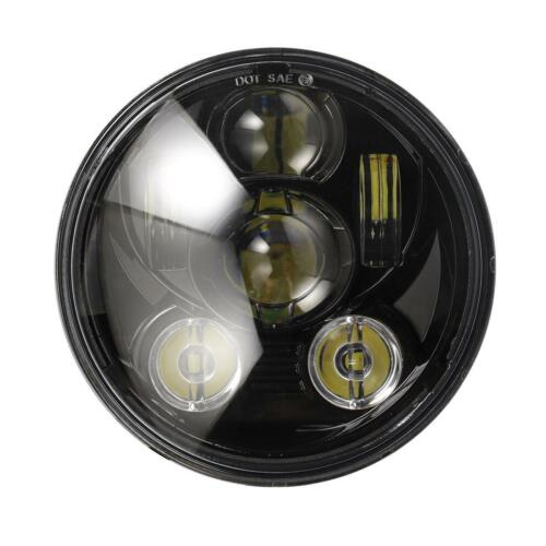 """DOT 5.75/"""" Round LED Headlight Black For Harley Dyna Wide Glide FXDWG//Low Rider"""