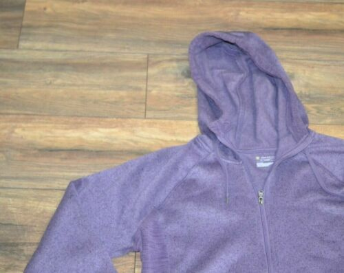 Tek Gear Drytek Ultrasoft Hooded Fleece Jacket Full Zip Plum Garden Hoodie