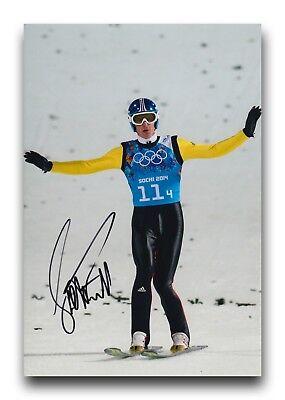 Severin Freund Hand Signed 12x8 Photo Ski Jumping 6. Olympic Memorabilia