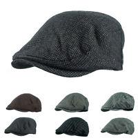 Vintage Newsboy Cabbie Gatsby Hat Flat Ivy Cap Golf Tweed Wool Driving Beret NWT