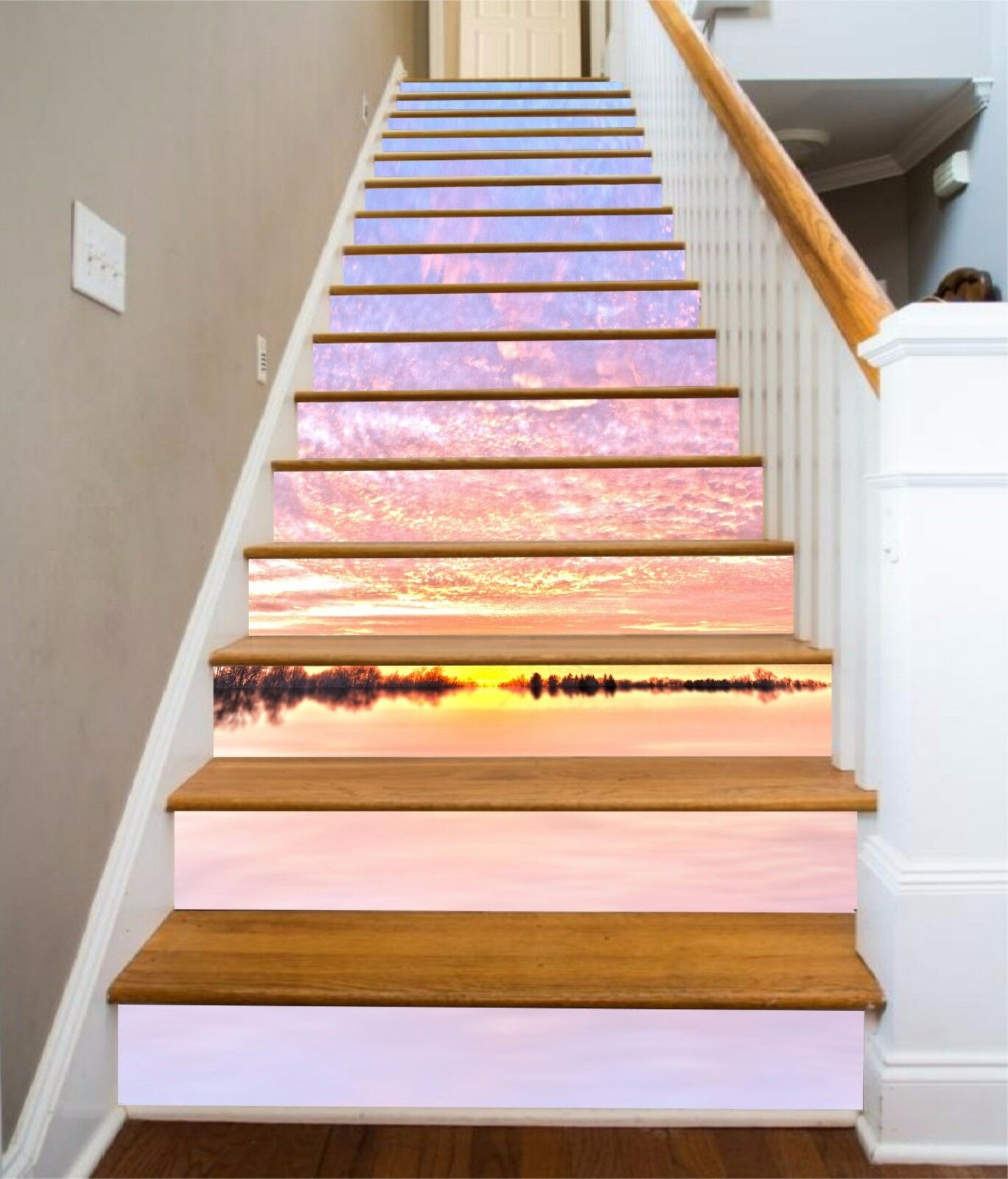 3D Farbe Sea 237 Stairs Risers Decoration Photo Mural Vinyl Decal WandPapier US