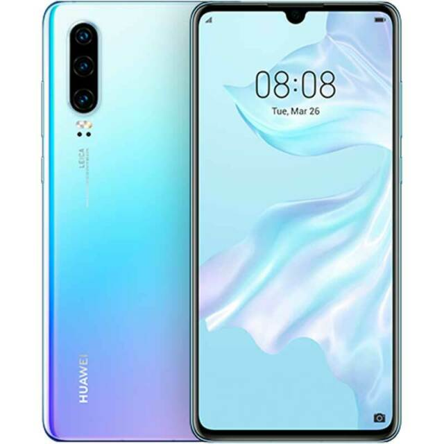 Huawei P30 LTE 128Gb Dual Sim breathing crystal blue Garanzia EU No Brand Nuovo