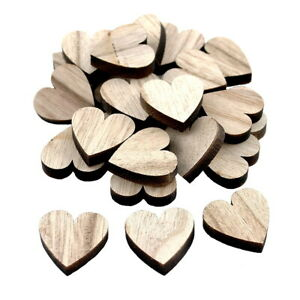 24x Streuartikel Holz Herz 3cm X 3cm Dick 0,6cm /// Natur Neueste Mode Basismaterialien