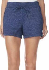 Women-039-s-32-Degrees-Cool-Size-M-Fleece-Shorts-Blue-Space-Dye