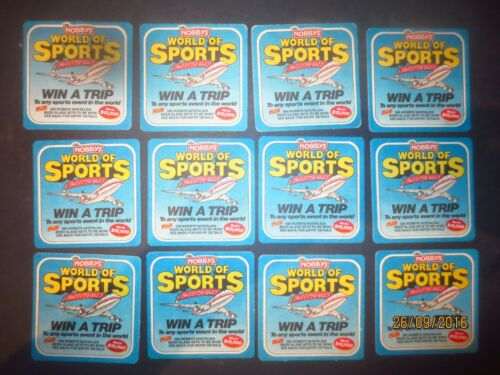 NUTS COMPETITION advertising COASTERS collectable 12  NOBBYS  POTATO CHIPS