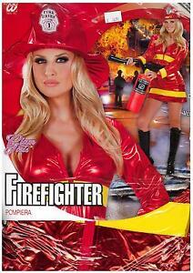 Abito-Vestito-Costume-CARNEVALE-POMPIERA-FIREFIGHTER-WOMAN-GLAMGIRLS-TG-M